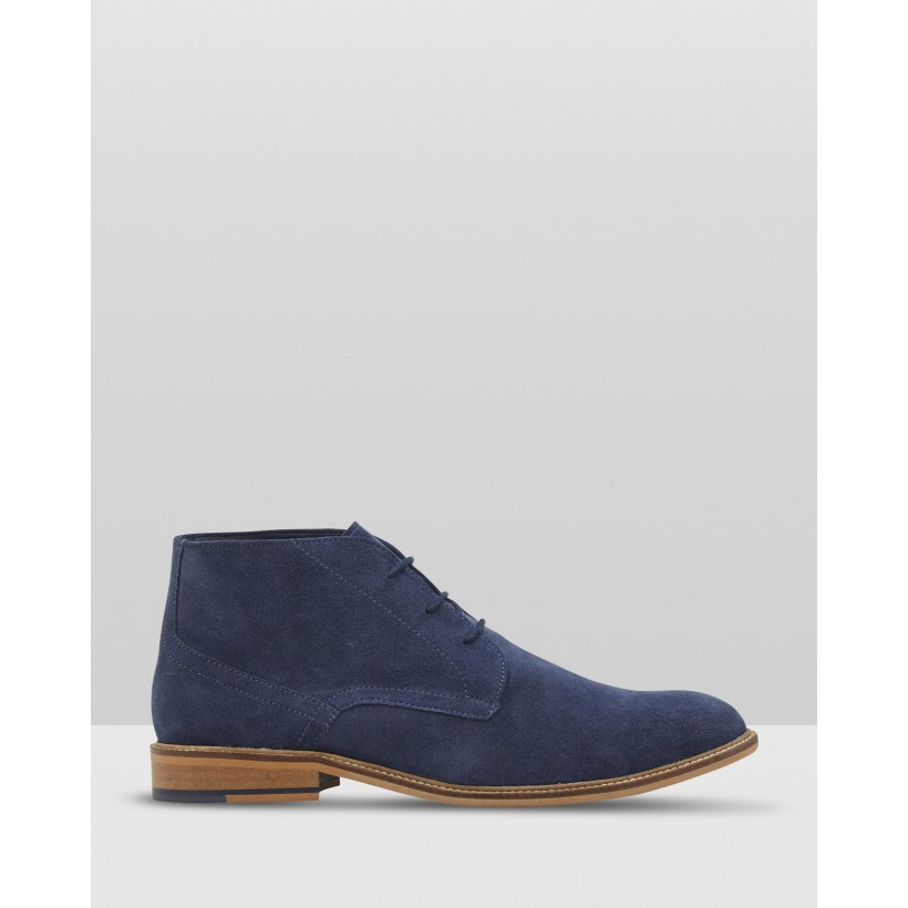 Braxton Suede Boot Blue by Oxford
