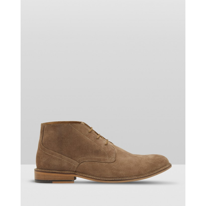 Braxton Suede Boots Brown by Oxford