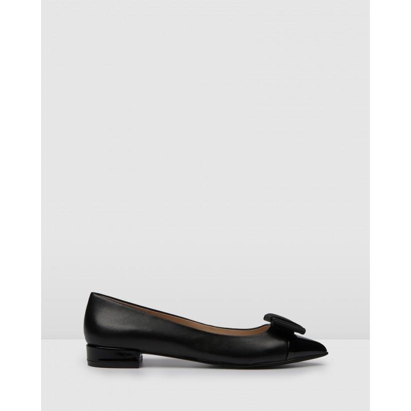 Brinkley Dress Ballets Black Leather by Jo Mercer