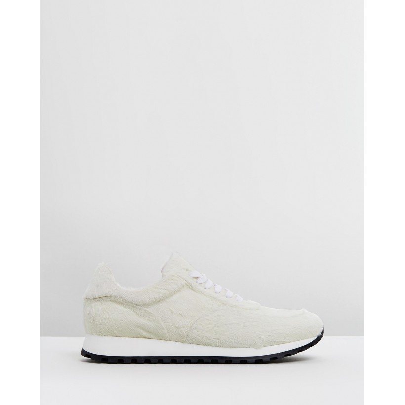 Calf Hair Trainers White by Wings + Horns
