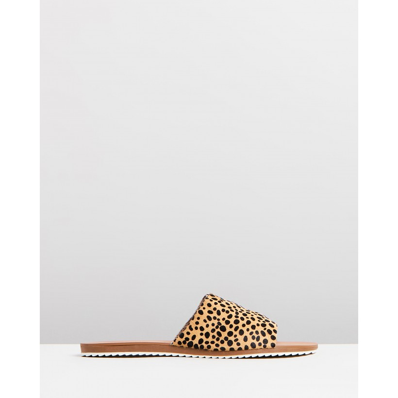 Camile Strap Slides Leopard Spot by Atmos&Here