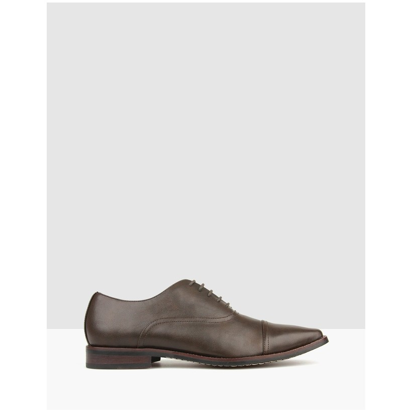 Captain Lace Up Dress Shoes Chocolate by Betts