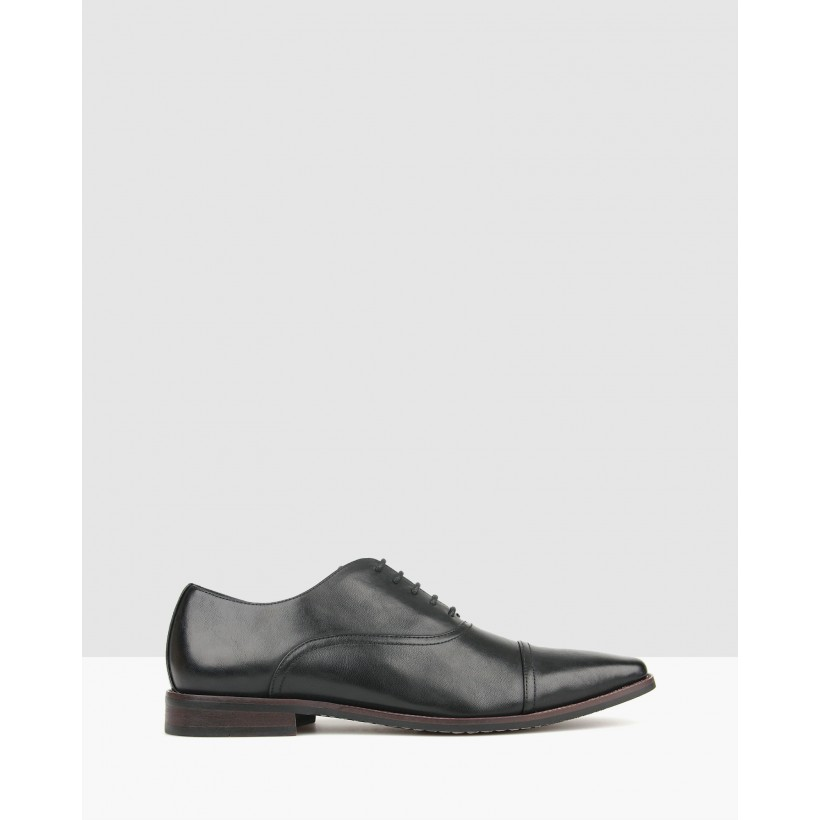 Captain Oxford Dress Shoes Black by Betts