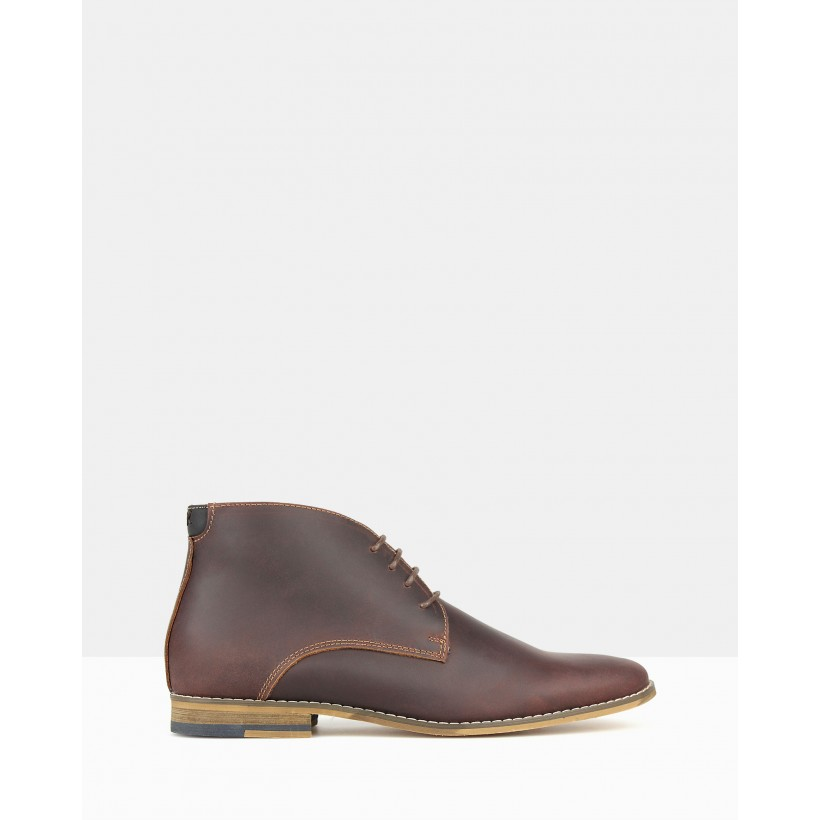 Case 2 Leather Ankle Boots Brown by Zu