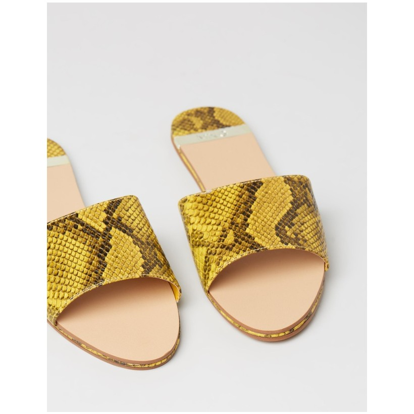 Catania Sandals Yellow Snake by M.N.G