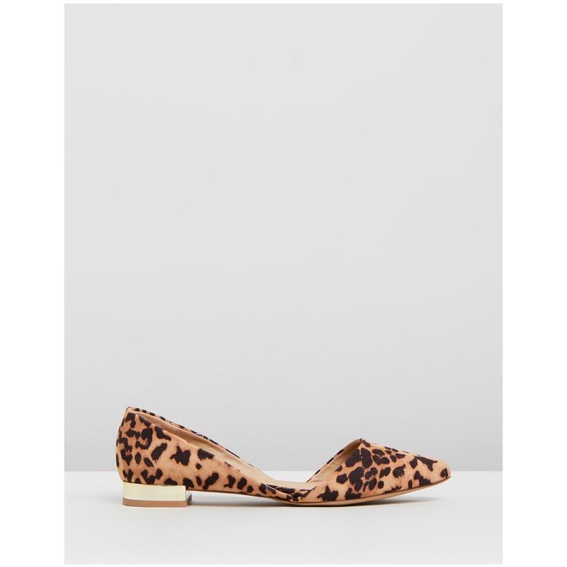 Celina Flats Leopard Microsuede by Spurr