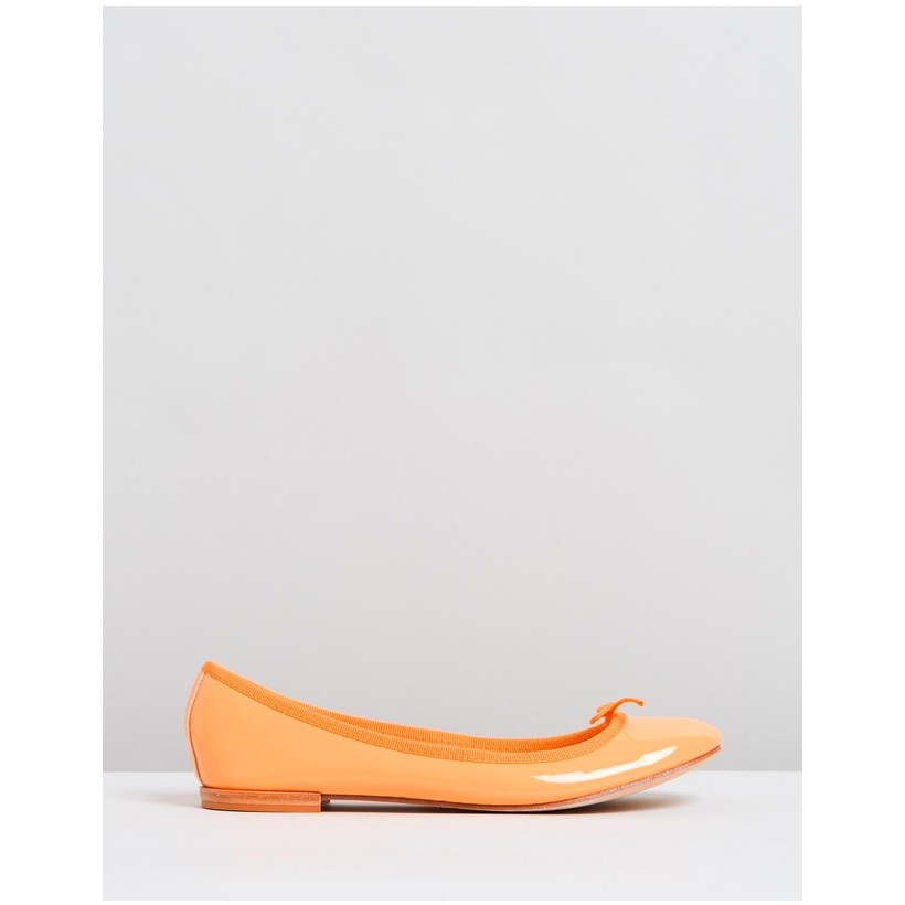 Cendrillon Solemio Orange Patent Goatskin by Repetto