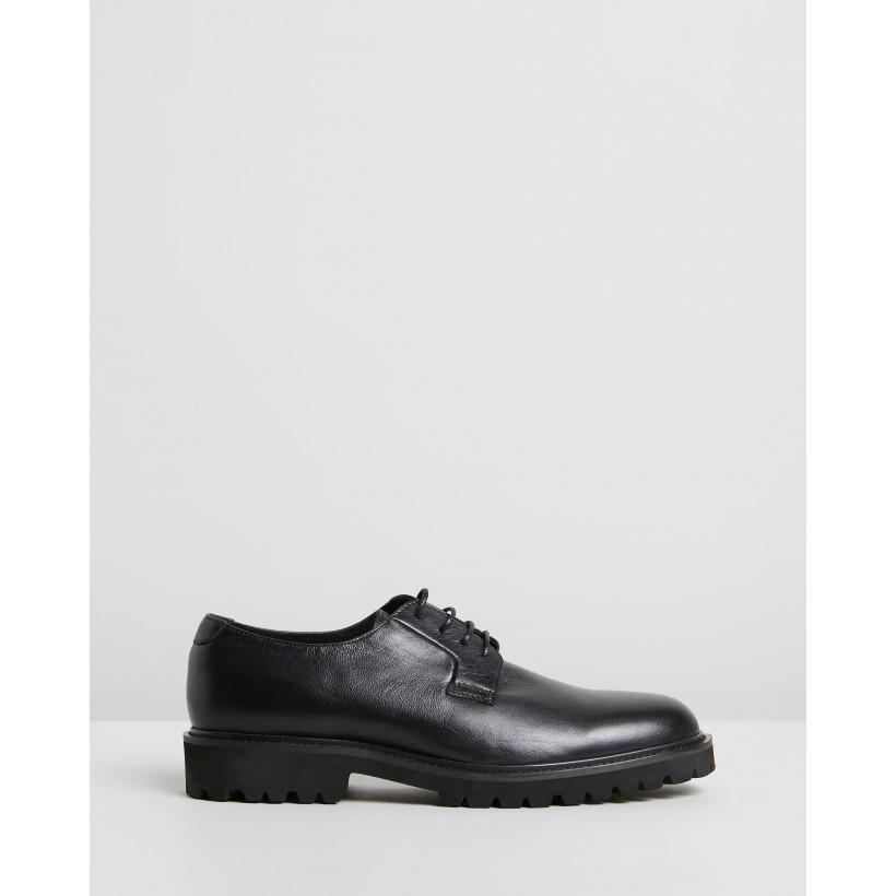 Christie Leather Derby Shoes Black by Double Oak Mills