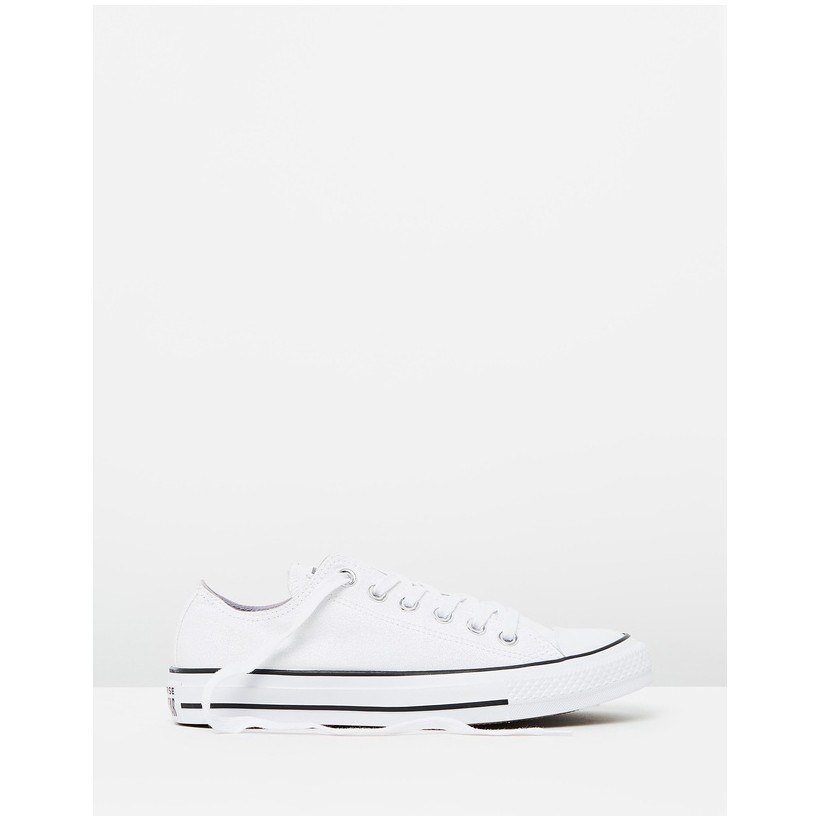 Chuck Taylor All Star Metallic Ox White & Black by Converse
