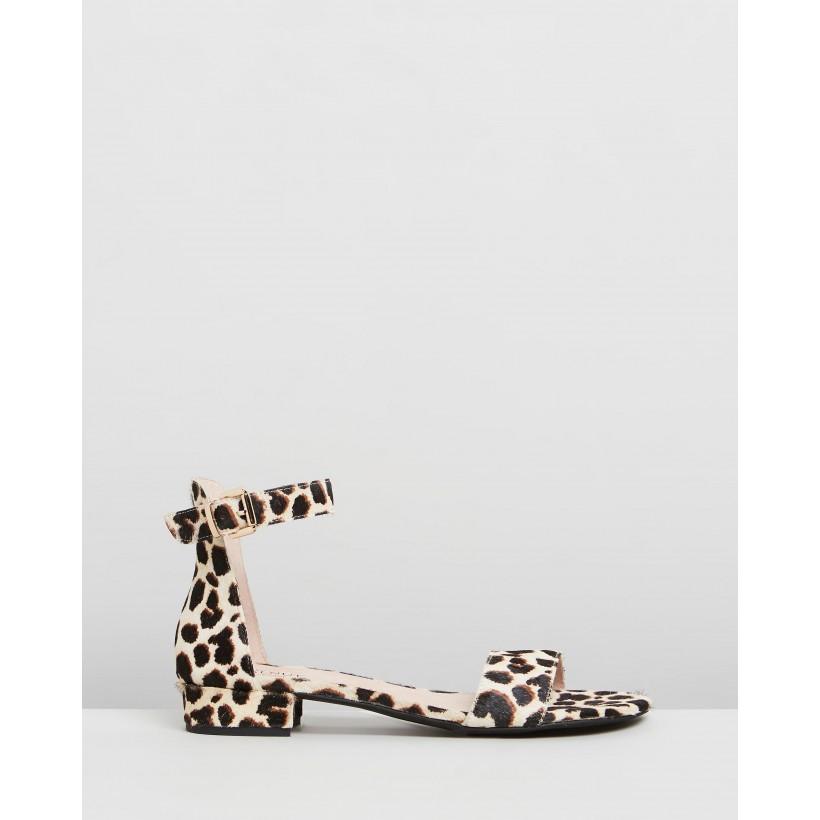Chyka Sandals Natural Black Leopard by Walnut Melbourne