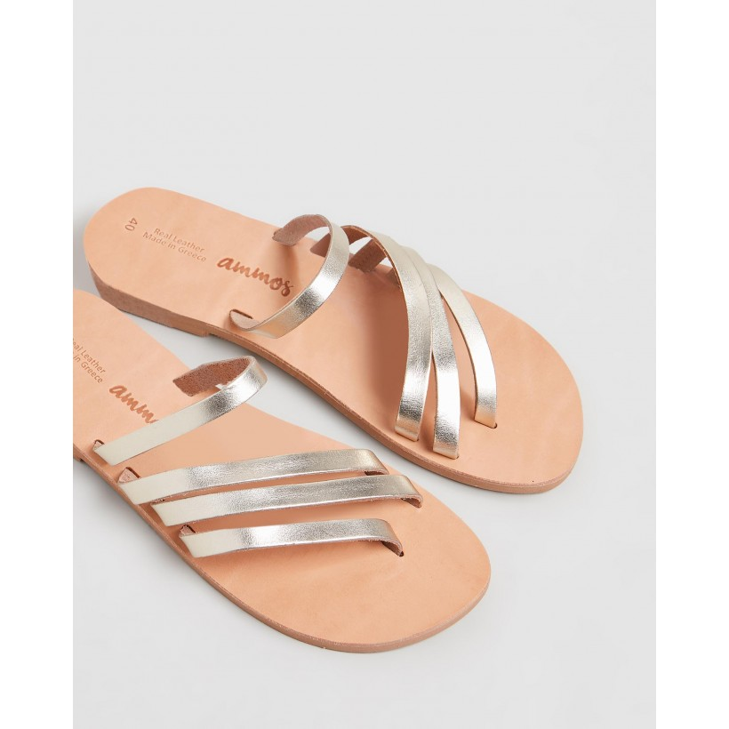 Circe Sandals Gold by Ammos