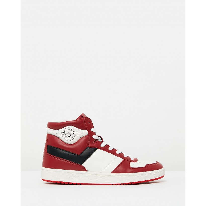 City Wings Hi Cloud Dancer/Red/Black by Pony
