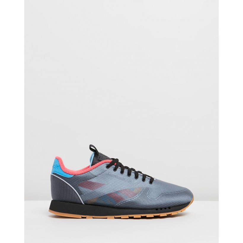 CL Leather - Unisex Black, Cyan, Hype Pink & Toxic Yellow by Reebok