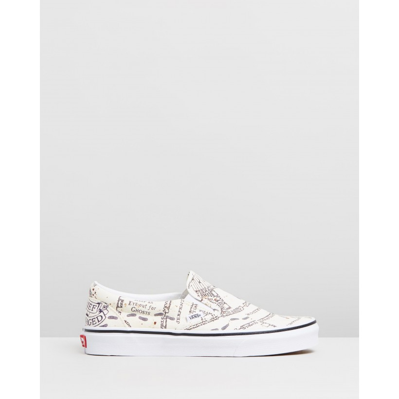 Classic Slip-On x Harry Potter Marauders Map by Vans