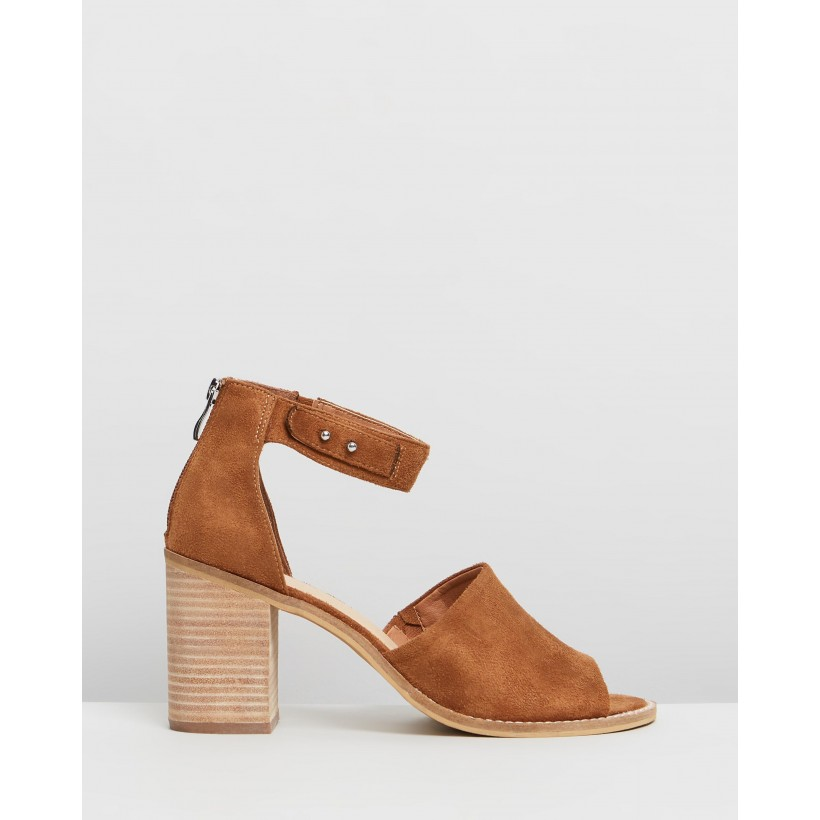 Clove Tan Faux Suede by Therapy