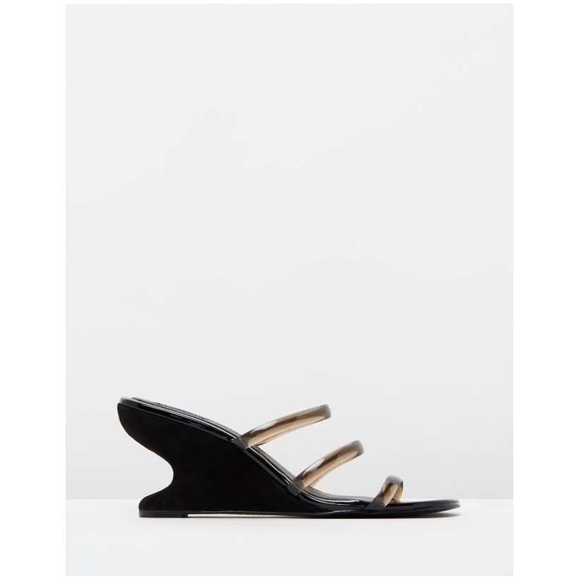 Contour Wedge Slides Black by Jaggar The Label