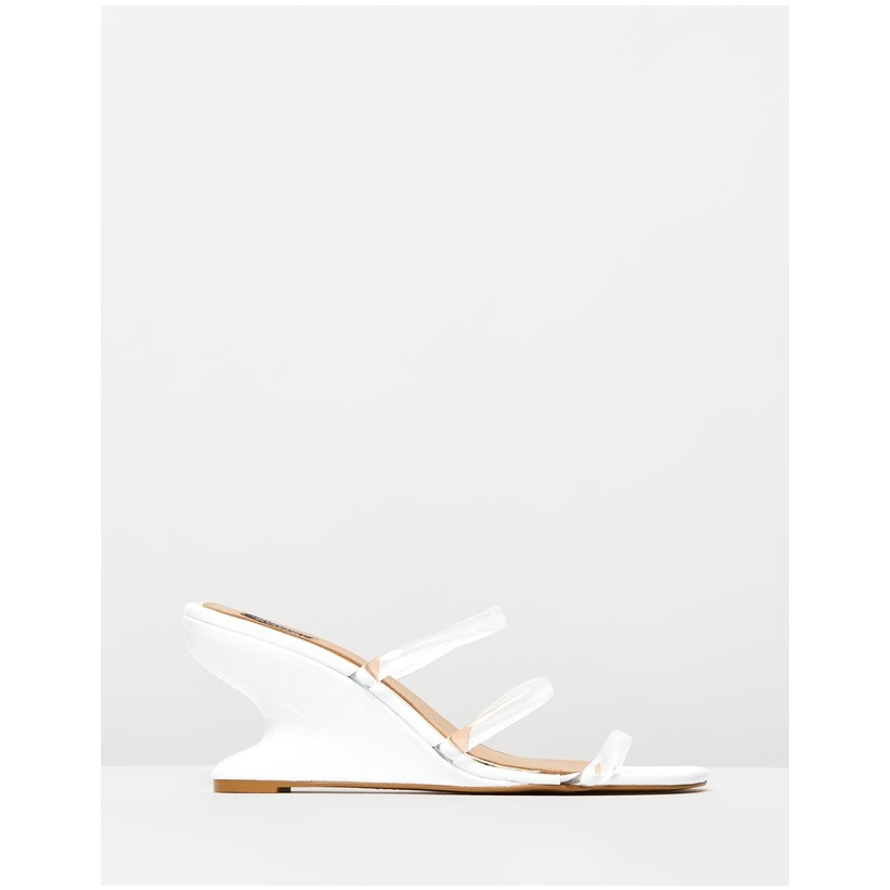 Contour Wedge Slides Ivory by Jaggar The Label