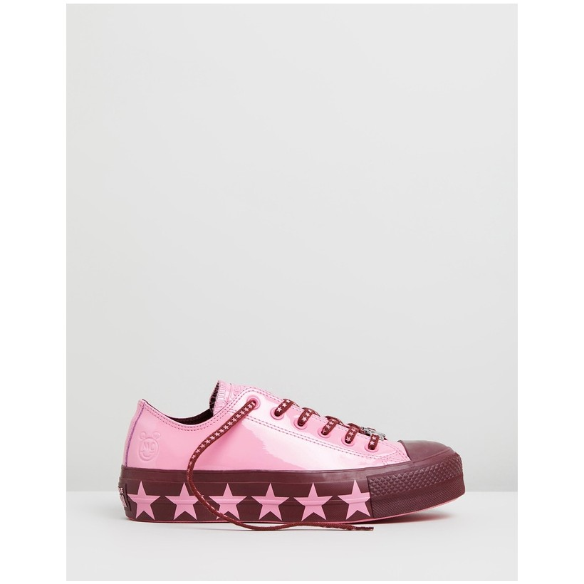 CONVERSE x MILEY Chuck Taylor All Star Lift Pink Star by Converse