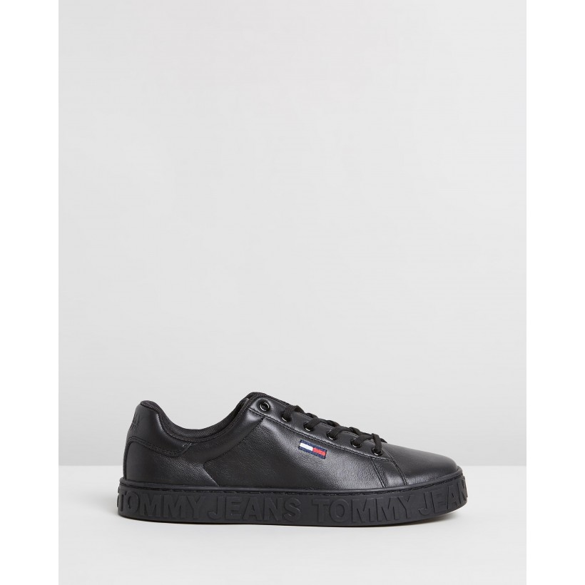 Cool Tommy Jeans Sneakers Black by Tommy Hilfiger
