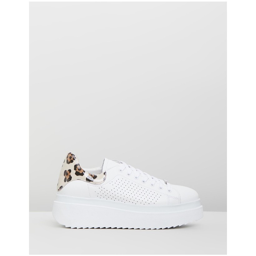 Cooney Sneakers White & Leopard by Bronx
