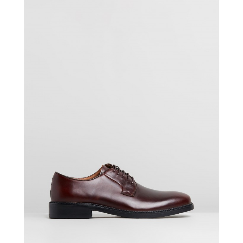 Corby Leather Derby Burgundy by Double Oak Mills