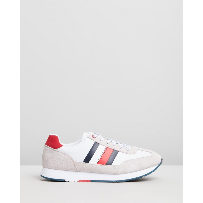 Corporate Leather Flag Sneakers White by Tommy Hilfiger