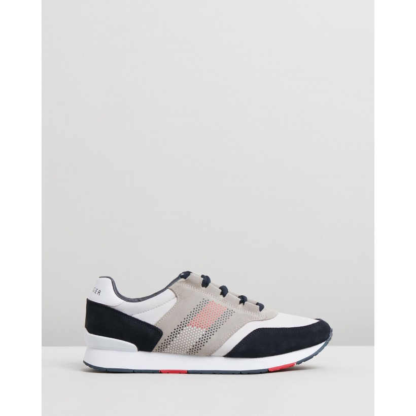 Corporate Material Mix Runners - Men's Diamond Grey by Tommy Hilfiger