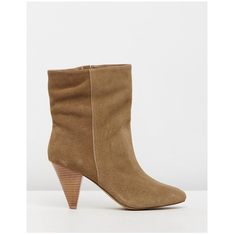 Cullen Taupe Cow Suede by Siren