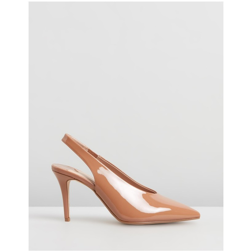 Daisy Wide Fit Slingback Courts Ecru by Dorothy Perkins