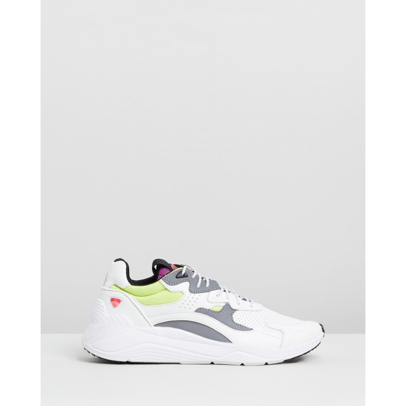 Daku Sneakers White Fluoro by Mcq By Alexander Mcqueen