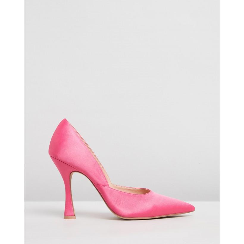 Delia Pumps Pink Satin by Dazie