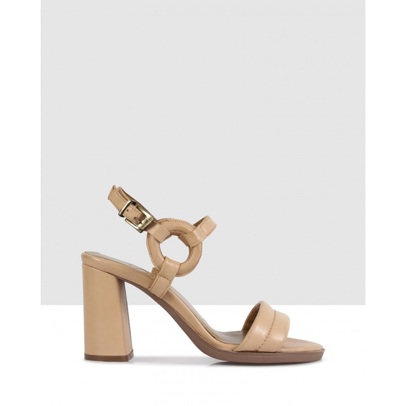 Denise Heeled Sandals 04 Light taba by S By Sempre Di