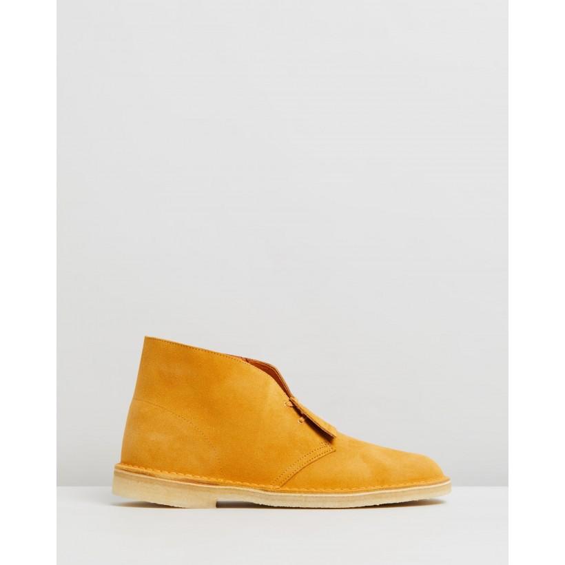 Desert Boots Turmeric Suede by Clarks Originals