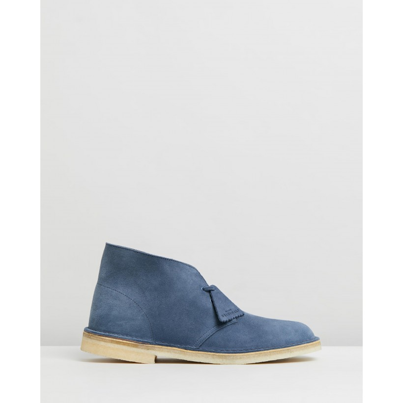 Desert Boots Deep Blue Suede by Clarks Originals
