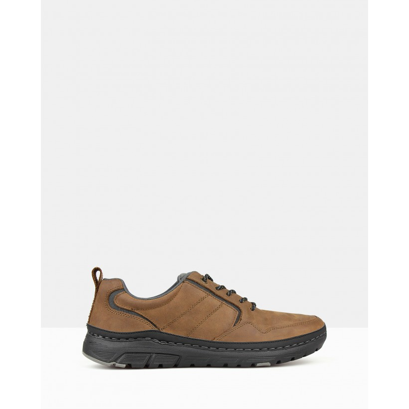 Dexter Leather Casual Sneakers Brown by Airflex