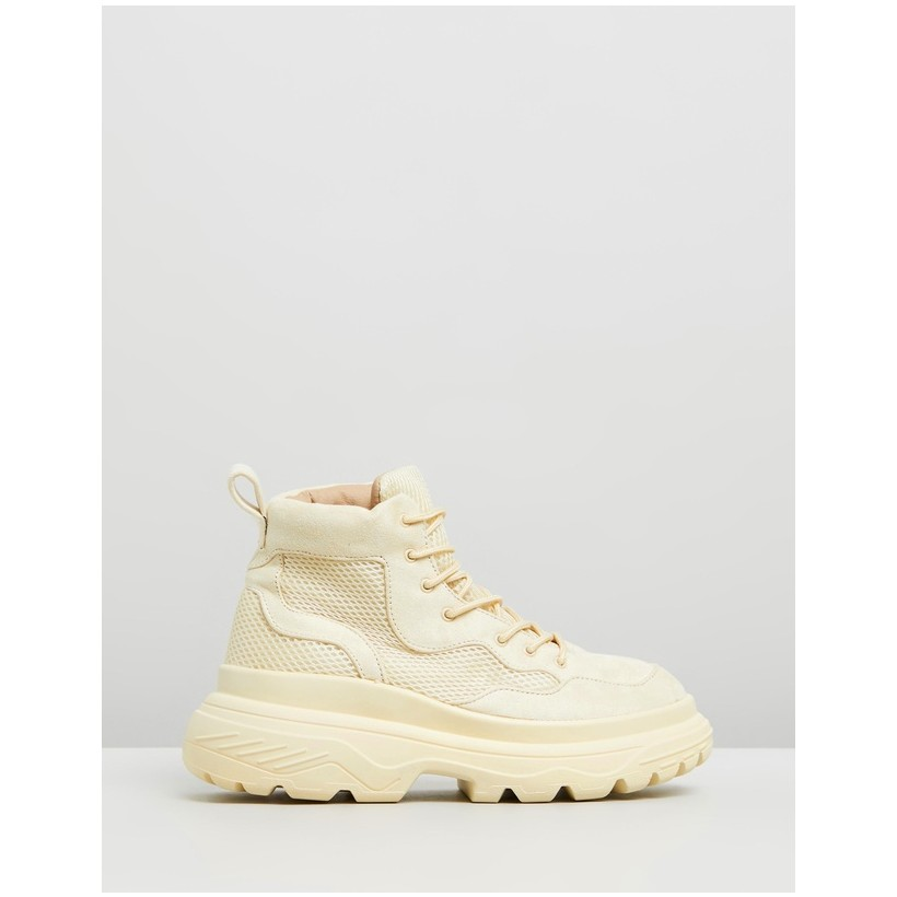 Double Sole Hiking Sneakers Yellow by Missguided
