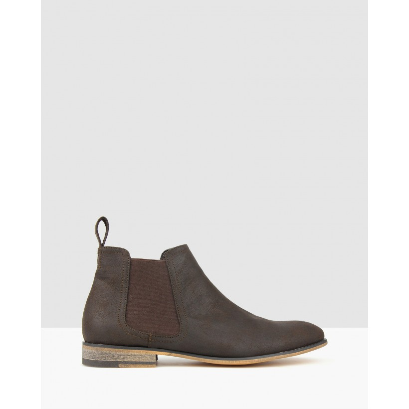 Dragon Chelsea Boots Dark Brown by Betts