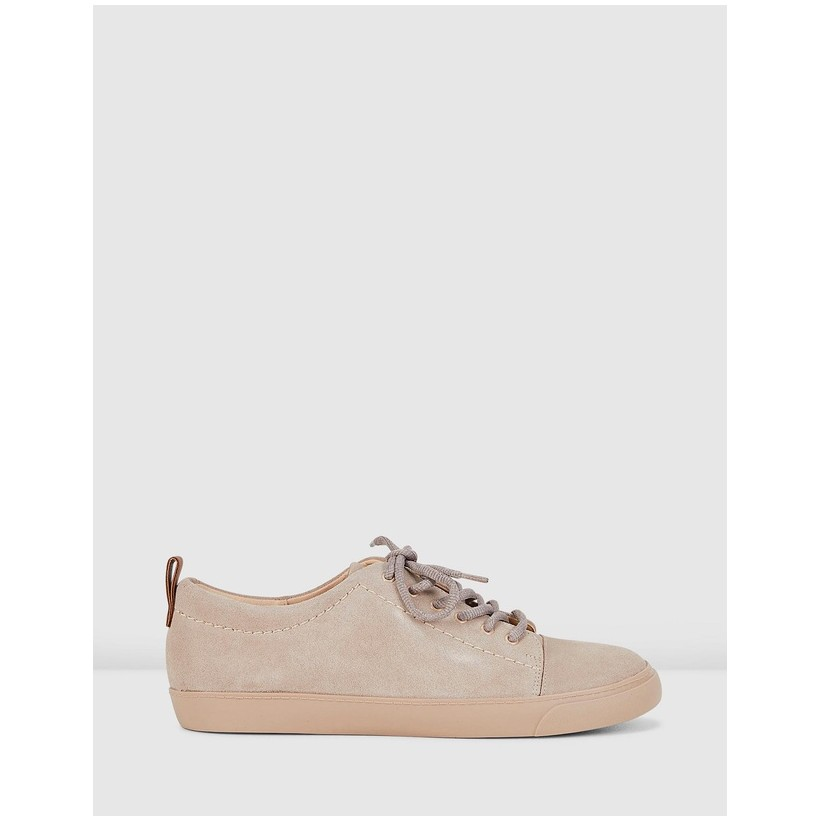 Echo Glove Sneakers Nude Pink by Clarks