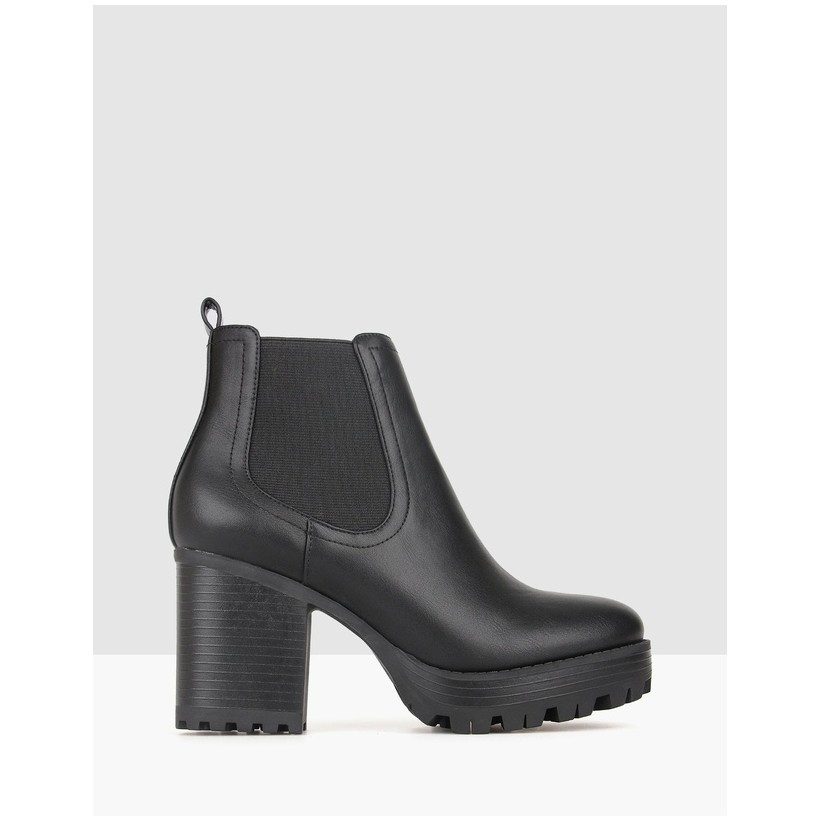 Edge Chunky Ankle Boots Black by Betts
