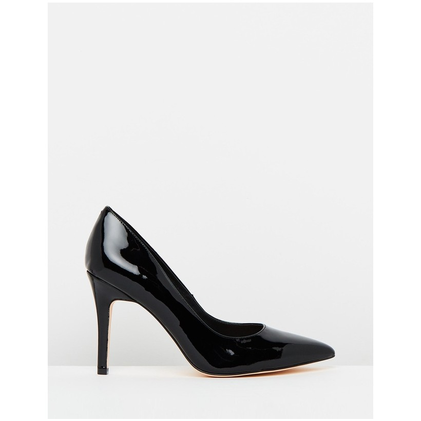 Elaine Leather Pumps Black Patent by Atmos&Here