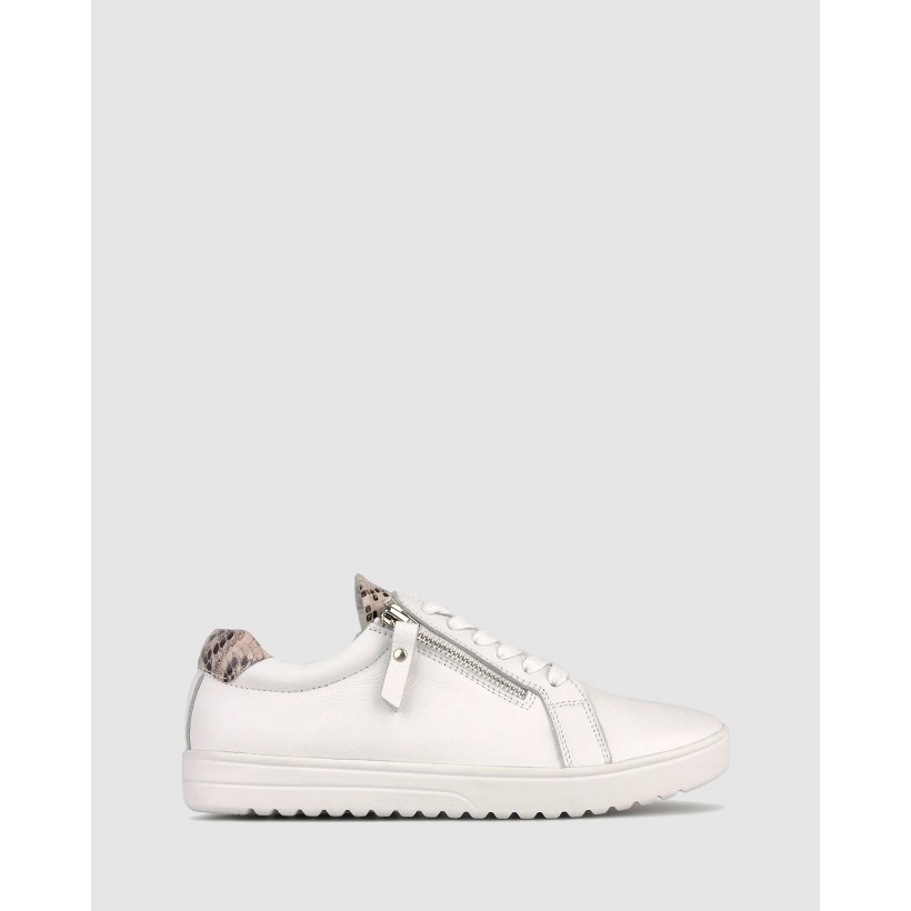 Elated Leather Lifestyle Sneakers White by Airflex