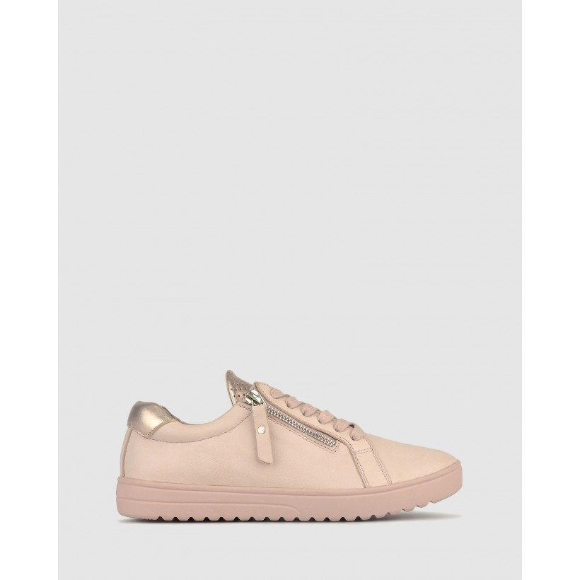 Elated Leather Lifestyle Sneakers Blush by Airflex