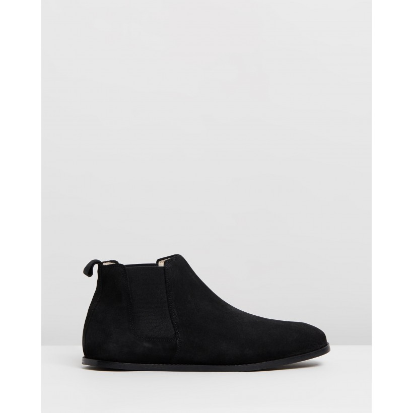 Evo Chelsea Suede Boots Black by Royal Republiq