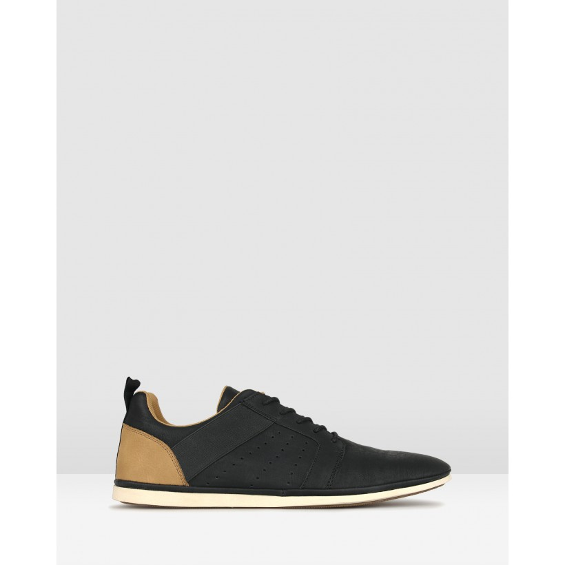 Falcon Lace Up Lifestyle Shoes Black by Zu