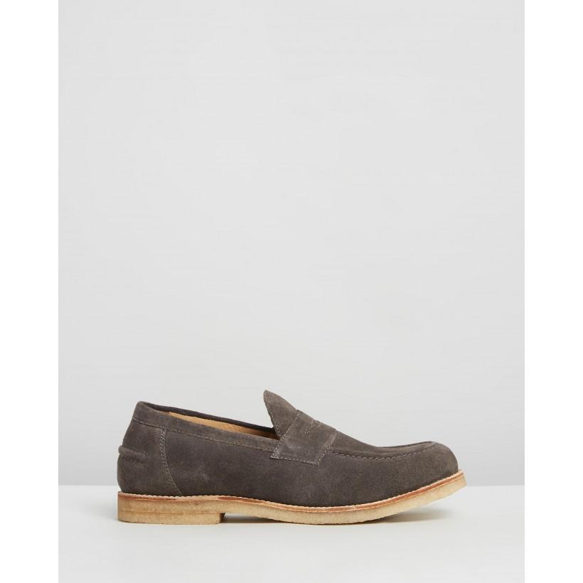 Felix Suede Loafers Grey by Double Oak Mills