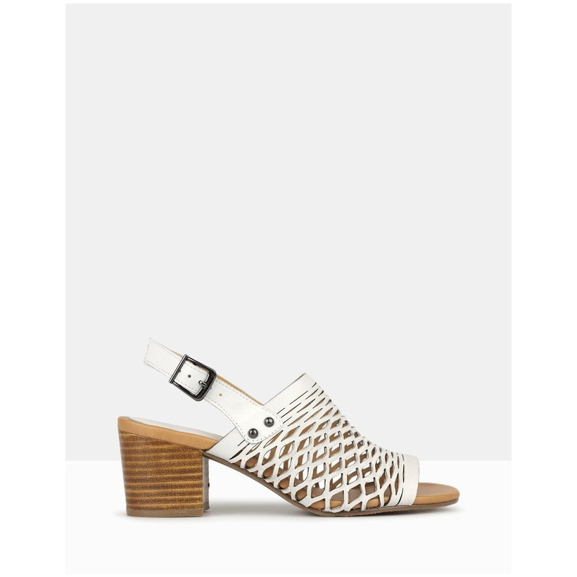 Flame Cut Out Sandals White by Airflex