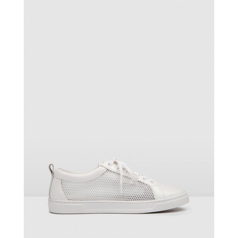 Flume Sneakers White Leather by Jo Mercer