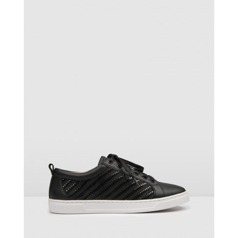 Focal Sneakers Black Leather by Jo Mercer