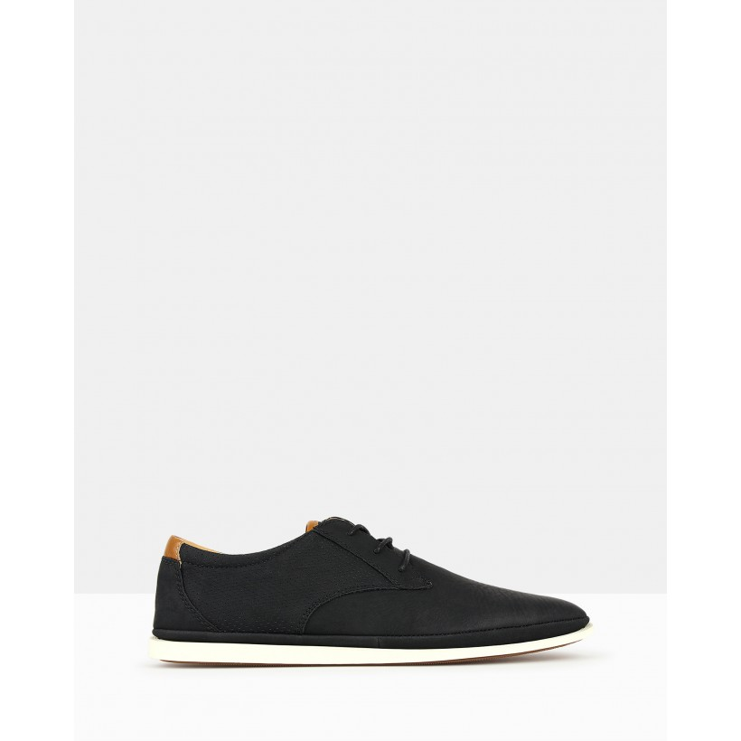 Focus Casual Lace Up Shoes Black by Zu