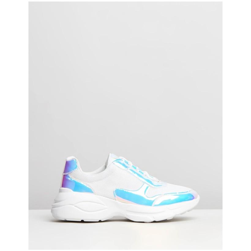 Freya Sneakers White Metallic by Dazie